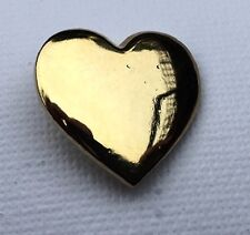 Metal Enamel Pin Badge Brooch Heart Love Hart Yellow Gold