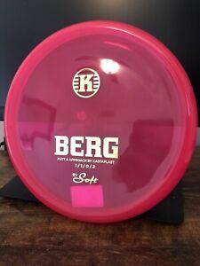 Kastaplast K1 Soft Berg | 175g | Disc Golf Putter | Hot Pink Gold Stamp | New