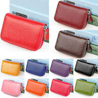 Ladies Leather Coin Purse Card Small Mini Wallet Clutch Zipper Bag RFID Blocking