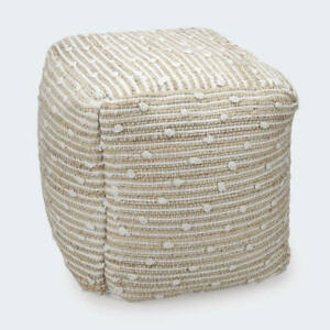 Natural Woven Beige Ottoman Foot Stool Pouf Lounge Living Room Bedroom Foot FF