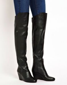 KG by Kurt Geiger Watson Black Over the Knee Leather Boots RRP $400.00