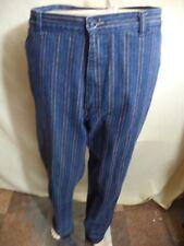 Sergio Valente Womans Jeans Dark Blue w/ Multi-colored Stripes Cotton Sz XL VGC