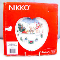"Nikko HAPPY HOLIDAYS 1996 Collector's Plate ""Up on the Housetop"" NEW NIB imp"
