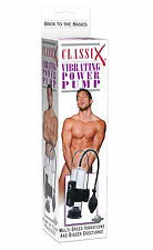 Classix Vibrating Power Penis Pump Enlarger Enhanced Erections Vacuum Extender