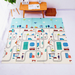 Foldable baby play mat 1cm crawling carpet XPE children's educational toys 2021