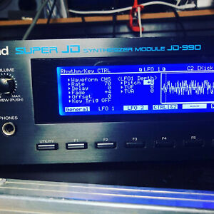 Roland JD-990 Super JD Synthesizer Module JD990 with NEW BLUE LED DISPLAY