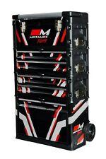 Motamec Racing BLACK Modular Tool Box Trolley Mobile Cart Cabinet Chest C41H