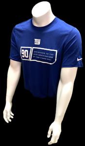 Nike Dri Fit Men's New York Giants Blue Short Sleeve Shirt NFL Football T-Shirt