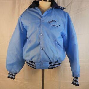 Vintage Burlington Northern BN Intermodal Railroad Bright Blue Jacket Sz L