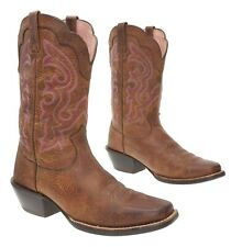 ARIAT Cowboy Boots 8 B Womens Square Toe Leather CUTOUTS Western Rodeo Boots