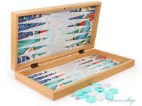 Luxus Backgammon Tavla Dama XXL Gesellschaftsspiele Familienspiel Tropical