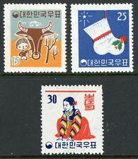 Korea 1960 Lunar New Years Scott #318-320 Mint G480