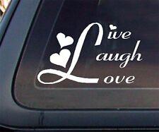 Live Laugh Love Car Decal / Sticker (451) - White