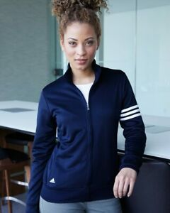 Adidas Women's ClimaLite 3-Stripes French Terry Full-Zip Jacket A191 S-3XL Golf