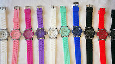 Job lot 20 pcs Rubber Silicone Diamante gel Watches new wholesale - lot Z