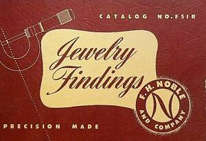 Jewelry Findings Catalog #f51R FH Noble & Co 1950s Chain Bars Snaps