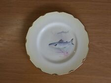 Royal Doulton Hand Painted Plate Swimming Salmon c. 1910 Signed Wilson Jnr