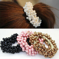 Women Elastic Hair Ties Band Ropes Ring Ponytail Hairband Holder Accessories