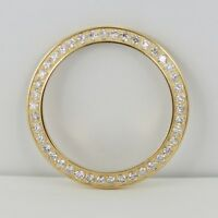 For Rolex 14K Yellow Gold Diamond Bezel for Ladies 26mm Watch