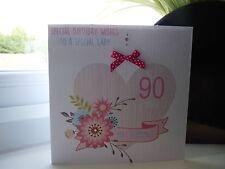 Handmade Personalised Female Birthday Card 50th 60th 70th 80th 90th 100th