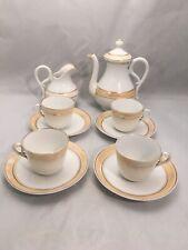 Vintage Tea Coffee Set Teapot Coffee Pot Cups Saucers Milk Jug