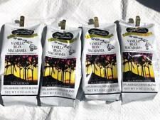 4x HAWAIIAN Isles FRESH COFFEE Vanilla MACADAMIA Blend Ground Grind KONA Hawaii