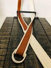 POLO Ralph Lauren Brown Leather Cream Anchor Belt