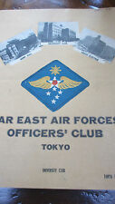 1947-48 Military Far East Air Forces (FEAF) Officers' Club Bar Menu - 4 Pages
