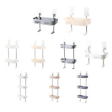 1/2/3 Tier Suction Shower Caddy Basket Bathroom Shelves Shampoo Organizer