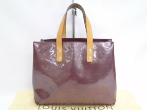 Auth Louis Vuitton Reade PM Hand Bag Monogram Vernis Violet France 16170247600 P