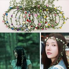 Bohemian Flower Crown Wedding Garland Forehead Hair Head Band Wreath H&T