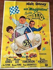 manifesto,UN MAGGIOLINO TUTTO MATTO, Love Bug,HERBIE,WALT DISNEY,AUTO CAR 1 EDIZ