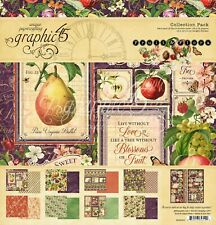 "NEW  Graphic 45 12"" x 12"" Paper Collection Pack Fruit and Flora"
