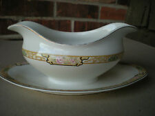 1930 Circa Johnson Bros JB119 GRAVY TUREEN/BOAT/BOWL w Underplate England
