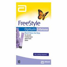 Abbott FreeStyle Optium Blood Ketone Test Strips 10 Pack  UNBOXED EXP:09/21 MVC^