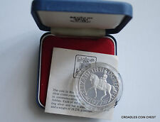 1977 SILVER JUBILEE CROWN STERLING SILVER PROOF ROYAL MINT CASED WITH CERT