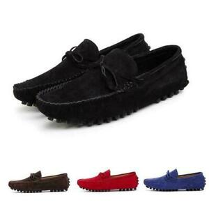 Mens Moccasins Loafers Bowknot Flat Gommino Slip On Pump Driving Shoes Comfort