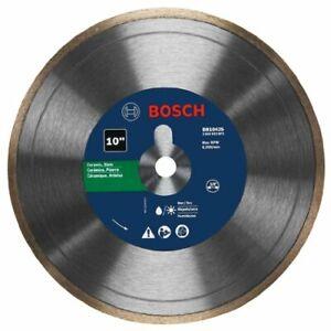 "Bosch DB1043S Continuous Rim Diamond Blade, Clean for Ceramic/Slate, 10"""