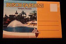 "Busch Gardens ""The Dark Continent""  Postcard Set Of 12 Color Photos  UNPOSTED"