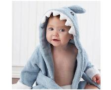AU Super SOFT Shark Baby Infant Hooded Towels Bath Robe Bath Towel 0-12 months
