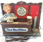 VINTAGE PABST BLUE RIBBON BEER BARTENDER LIGHTED BAR SIGN PBR 60-70'S NO BOTTLE