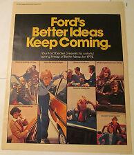 1978 Ford Dealer Full Line 12 pg Ad, Mustang, Pinto, Thunderbird, LTD, Truck