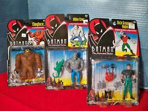 Batman Animated Series Action Figures Lot Clayface Killer Croc Dick Grayson