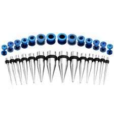 28pcs Ear Stretching Gauge Kit Stainless Steel Taper Marble Plug 12G-00G Ear