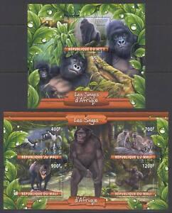 SVVGTA D51 limited 2019-2020 Wild Animals African Monkeys 2 sheets