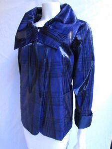 Giorgio Armani Women Blue Black Fashion Jacket Water Repellent Winter Coat 8/42