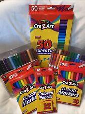 Lot Of CraZart Markers And Pencils Kids Art Supplies