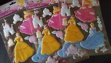 Disney Princess Padded Stickers BNIP