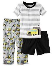 Carter's Infant Boys' 3-Piece Pjs - Dump Truck Pajamas Nwt construction vehicles