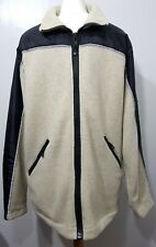 Henri Lloyd Polartec Fleece Reflective Cream Black Warm Jacket Size M Zip Up